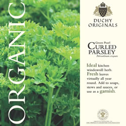 Image of Duchy Originals Green Pearl Curled Parsley Herb Seeds
