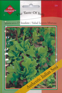 Image of Italian Misticanza D'Insalate Salad Leaves Seeds