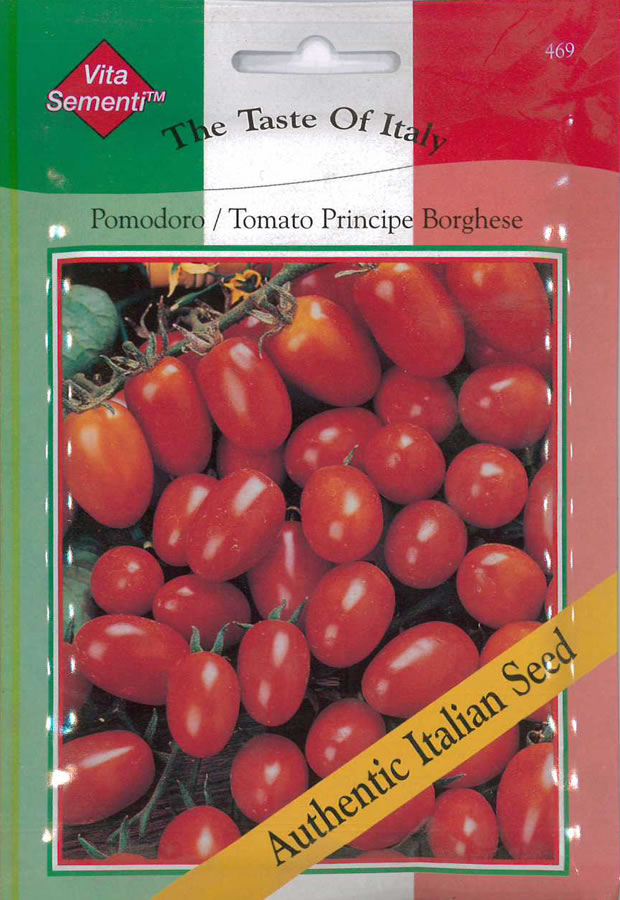 Italian Pomodoro Principe Borghese Tomato Seeds 163 2 59
