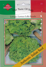 Small Image of Italian Lattuga Lollo Bionda Lettuce Seeds