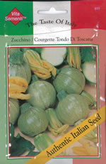 Small Image of Italian Tondo di Toscana Courgette Seeds