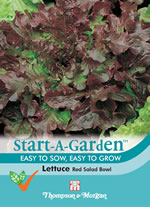 Small Image of Start A Garden Lettuce Seeds  Red Salad Bowl