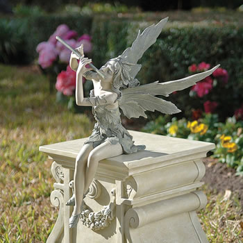 Image of Fairy of the West Wind Garden Ornament by Design Toscano