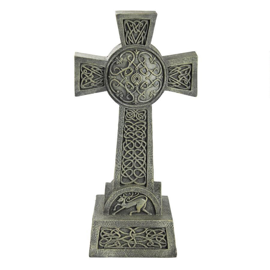 Extra image of Donegal Celtic High Cross Resin Ornament by Design Toscano