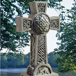 Small Image of Donegal Celtic High Cross Resin Ornament by Design Toscano