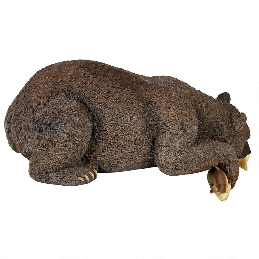 Extra image of Catch of the Day Bear Resin Garden Ornament by Design Toscano