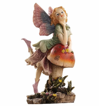 Image of Fairy Dust Twin: Mushroom Garden Ornaments by Design Toscano