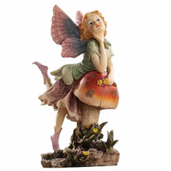 Small Image of Fairy Dust Twin: Mushroom Garden Ornaments by Design Toscano