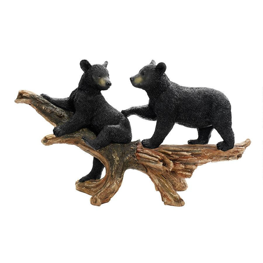 Extra image of Mischievous Bear Cubs Resin Garden Ornament by Design Toscano