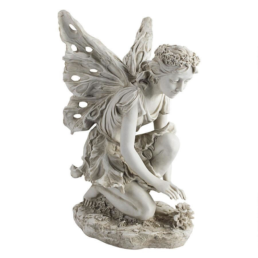 Extra image of Fiona the Flower Fairy Garden Ornament Statue