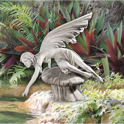Small Image of The Daydream Fairy Resin Garden Ornament by Design Toscano