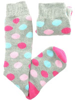 Small Image of Grey Spotty Ladies Welly Socks
