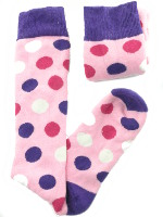 Small Image of Pink Spotty Ladies Welly Socks
