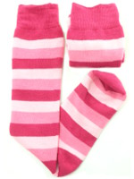 Small Image of Pink Stripes Ladies Welly Socks