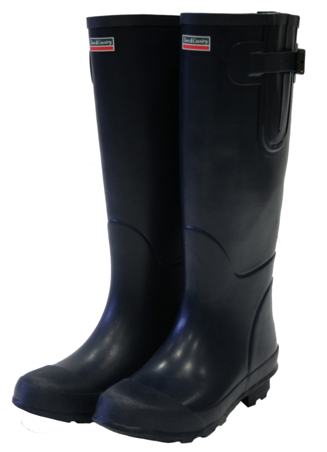 Image of Bosworth Navy Town & Country Wellies