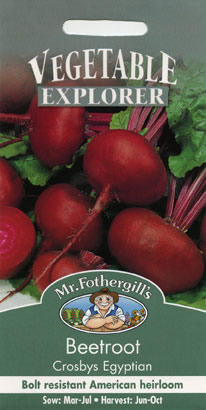 Image of Vegetable Explorer Crosbys Egyptian Beetroot Seeds