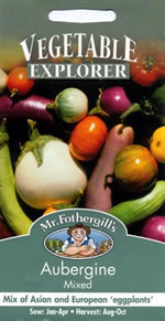Small Image of Vegetable Explorer Mixed Aubergine Seeds
