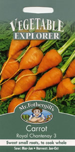 Small Image of Vegetable Explorer Royal Chantenay 3 Carrot Seeds