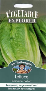Vegetable Explorer Romaine Ballon Lettuce Seeds