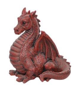 Image of Red Winged Dragon - Resin Garden Ornament