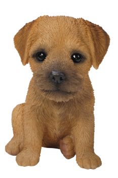 Image of Pet Pals Border Terrier Puppy - Resin Garden Ornament