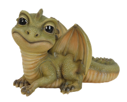 Image of Pet Pal Baby Green Dragon - Resin Garden Ornament