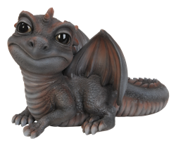 Image of Pet Pal Baby Grey/Red Dragon - Resin Garden Ornament