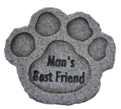 Image of Mans Best Friend Dog Memorial Plaque - Stone Effect