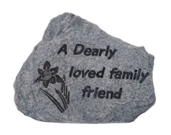 Image of Dearly Loved Family Friend Memorial Plaque - Stone Effect