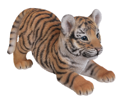 Image of Vivid Playful Tiger Cub - Resin Garden Ornament