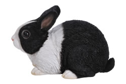 Image of Sitting Dutch Rabbit - Resin Garden Ornament