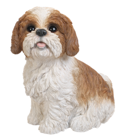 Image of Shih Tzu Brown Sitting - Resin Garden Ornament