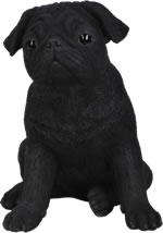 Small Image of Black Pug - Resin Garden Ornament