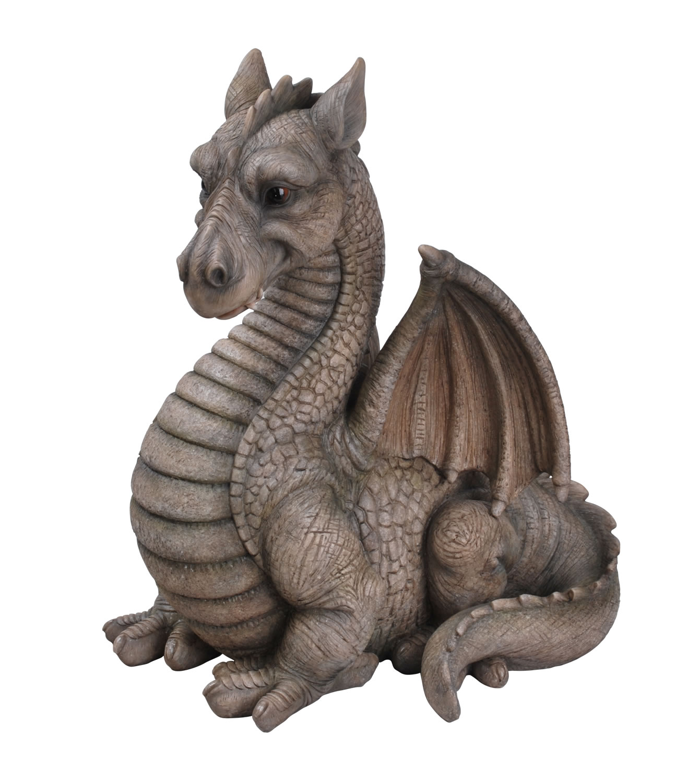 Grey Winged Dragon - Resin Garden Ornament - £89.99 ... on Backyard Ornaments id=88508