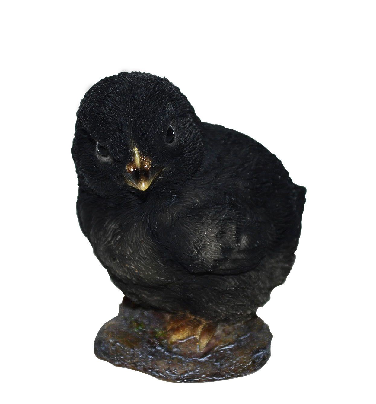 Vivid Black Easter Chick Lifelike Resin Garden Ornament