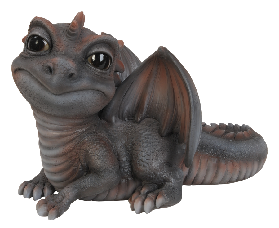 Pet Pal Baby Grey Red Dragon Resin Garden Ornament 163 9