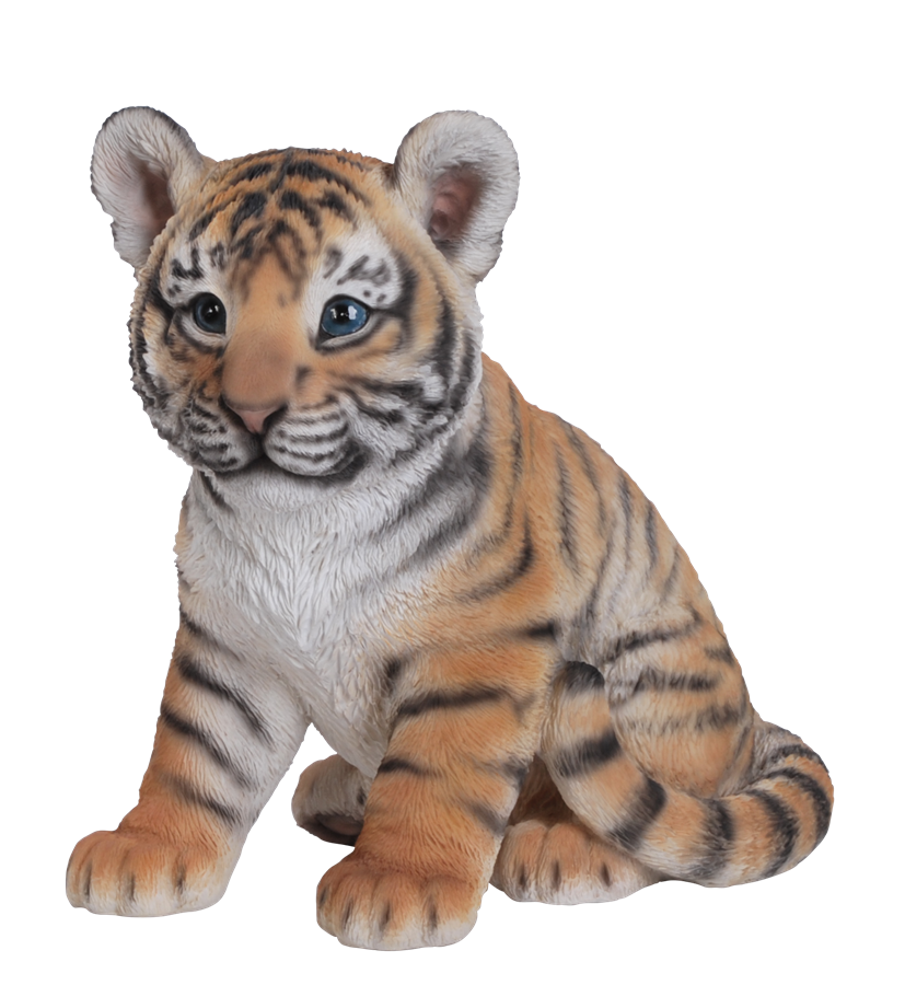 vivid sitting tiger cub resin garden ornament  u00a324 99 baby tiger clipart black and white baby tiger face clipart