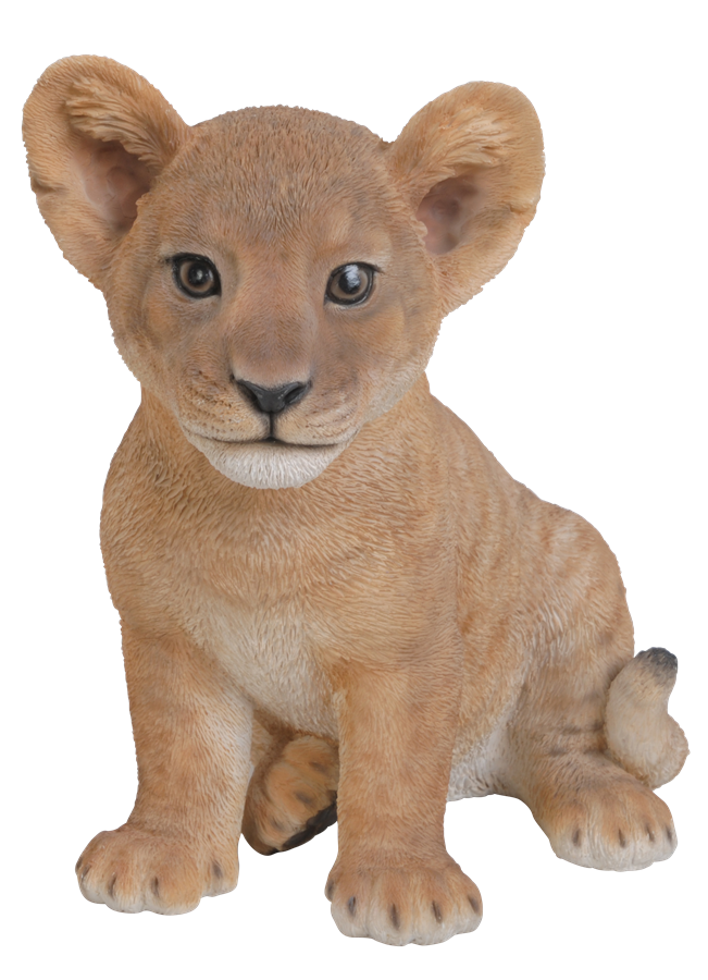 Sitting Lion Cub Resin Garden Ornament 163 19 99