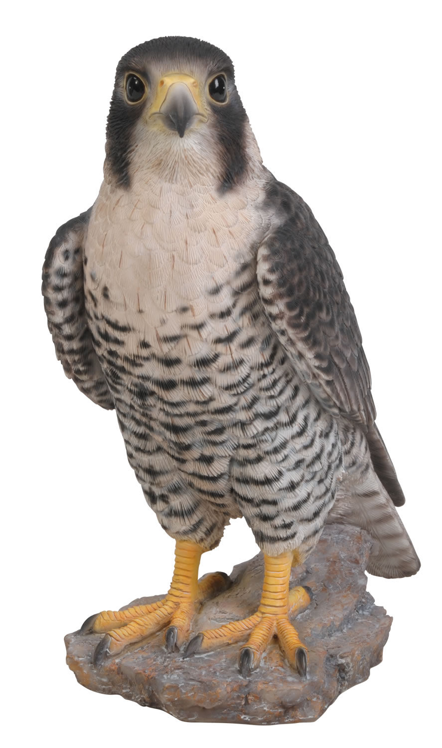 vivid peregrine falcon lifelike resin garden ornament