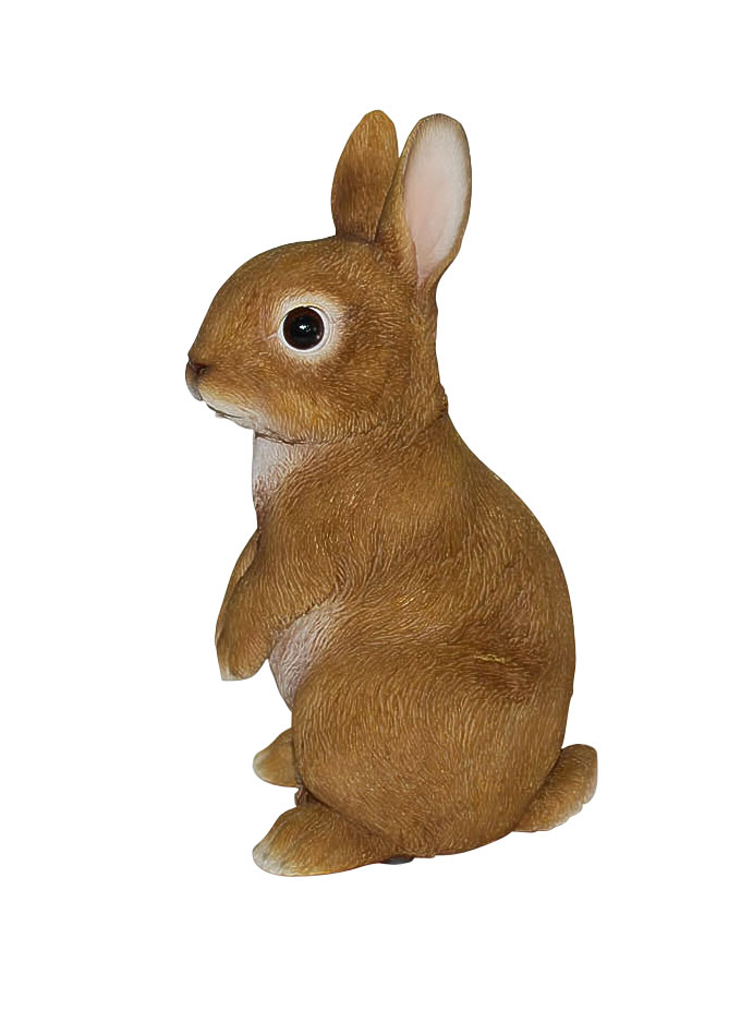 Vivid Standing Young Rabbit Lifelike Resin Garden Ornament