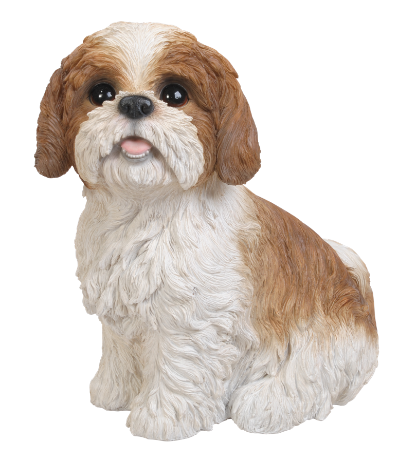 Shih Tzu Brown Sitting Resin Garden Ornament 163 29 24