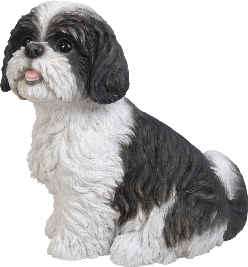 Superior Shih Tzu Black Sitting   Resin Garden Ornament   £27.99 | Garden4Less .