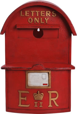 Image of Large Post Box Birdhouse - Resin Bird Box