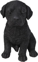 Small Image of Pet Pals Black Labrador Pup - Resin Garden Ornament