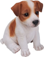 Small Image of Pet Pals Jack Russell Puppy - Resin Garden Ornament
