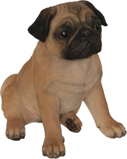 Image of Real Life Pug - Resin Garden Ornament