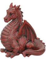 Red Winged Dragon - Resin Garden Ornament