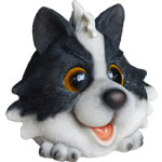Small Image of Vivid Cute and Playful Sheepdog Lifelike Resin Garden Ornament