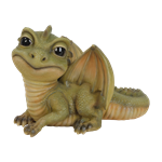 Pet Pal Baby Green Dragon - Resin Garden Ornament