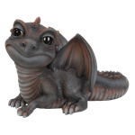 Small Image of Pet Pal Baby Grey/Red Dragon - Resin Garden Ornament